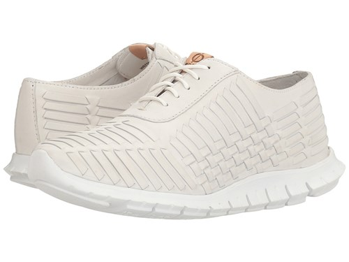 Cole Haan Zerogrand Huarache Oxford Optic White Leather Lace Up Casual Shoes P1JF2r