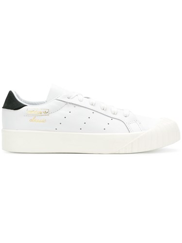 adidas Flat Lace Up Sneakers White WErBLz6HZj