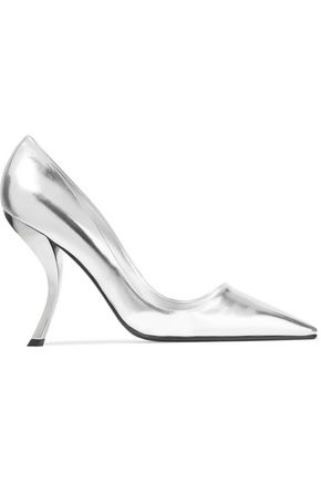 Roger Vivier Metallic Leather Pumps Silver 5R4mSf