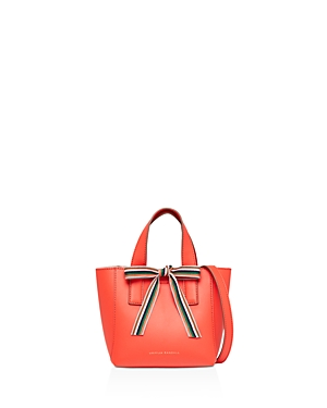 Loeffler Randall Ribbon Mini Leather Shopper Persimmon Orange Gold E7VEPEP