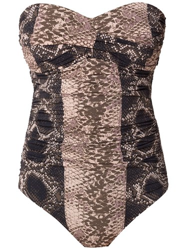 Sleeveless Swimsuit Brown