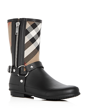 Burberry Women's Zane Signature Check Rain Boots Black oNSumd3ok