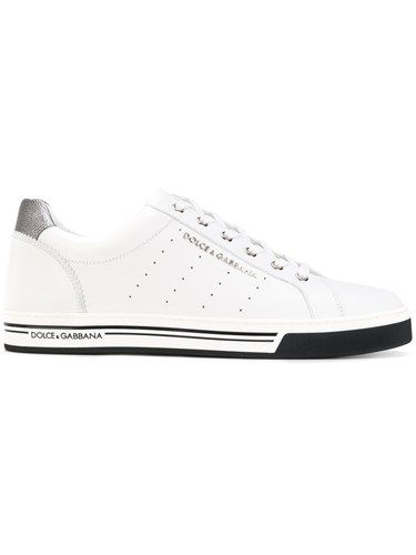 Dolce & Gabbana Classic Sneakers Leather Rubber 42.5 White P55xRkD