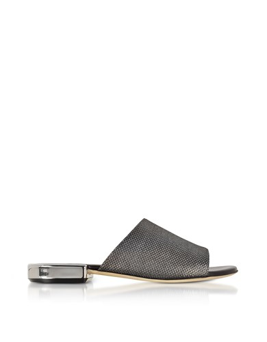 Rodo Shoes Black Suede And Lurex Flat Mules AuRBEVhy