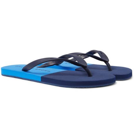 Orlebar Brown Haston Rubber Flip Flops Navy dGZvtl6