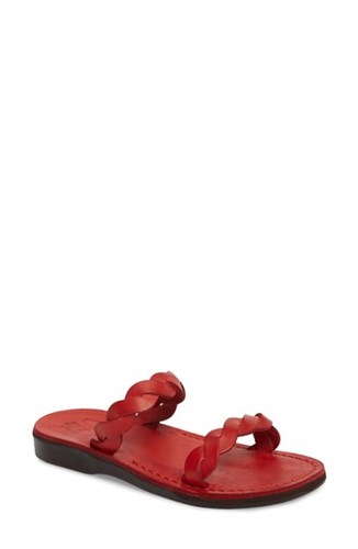 Jerusalem Sandals Joanna Sandal Red Leather TIM4htaQ