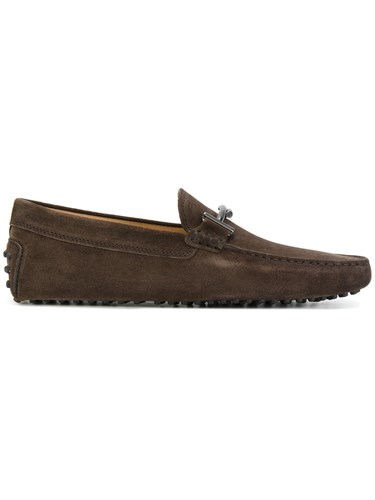 Loafers Men Rubber Leather 5 Bit Classic Suede Brown 7 Tod's FqfxE4wx