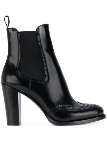 Church's Heeled Chelsea Boots Calf Leather Leather Rubber Black 4IU4yz