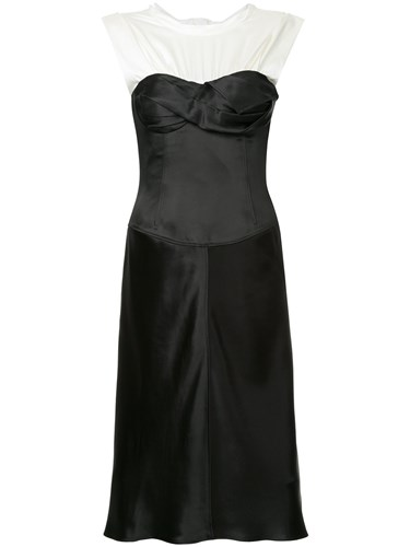 Alexander Wang Satin Twisted Cup Dress Silk Nylon Polyester Viscose Black PgMEgoxLQ