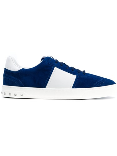 Valentino Garavani Fly Crew Sneakers Calf Leather Leather Rubber Blue anLRj5