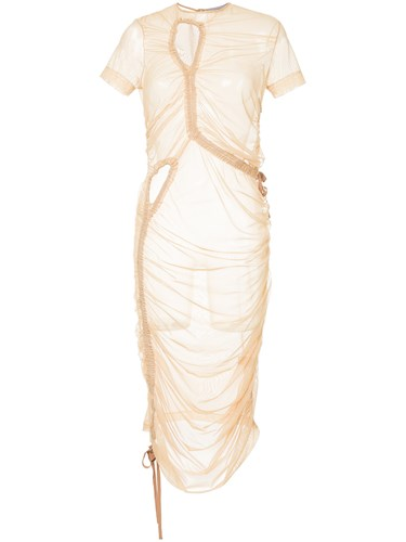 Preen By Thornton Bregazzi Stretch Tulle Dress Nude And Neutrals uE2hdqkFn