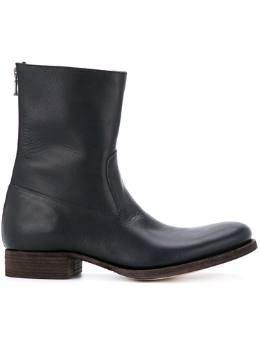 C Diem Rear Zip Boots Blue OToNLajc