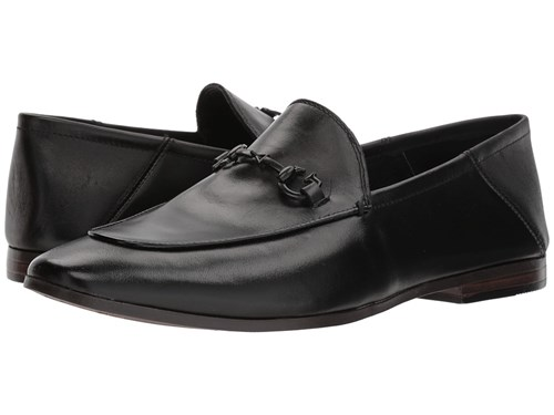 GUESS Edwin Black Leather Slip On Shoes rBiITl4