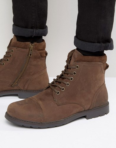 Red Tape Lace Up Boots Brown ANBDnGPo0
