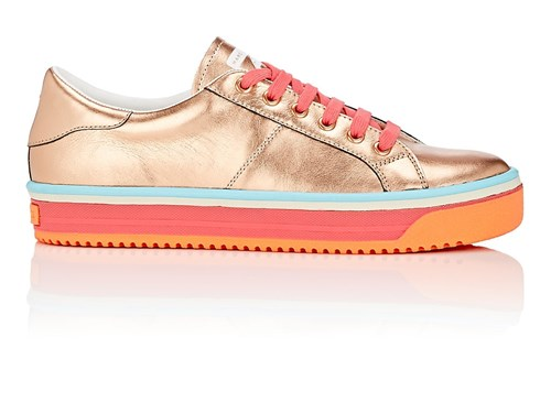Marc Jacobs Leather Sneakers Gold AL21mA