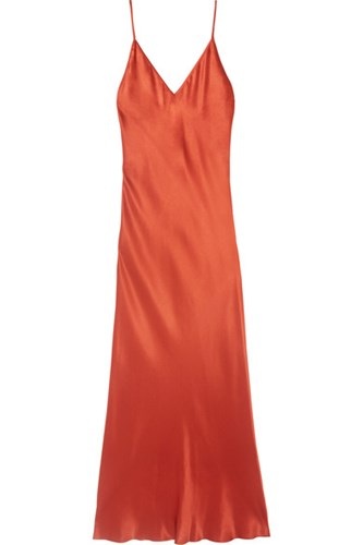 Dress Silk Charmeuse Copper Bias Protagonist Midi q1vwOw6