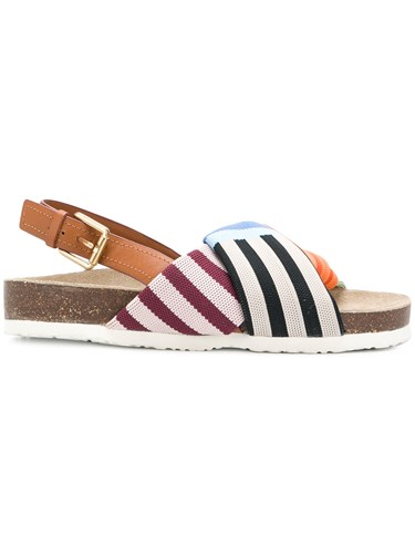 Tory Burch Striped Strap Sandals Multicolour s64k6