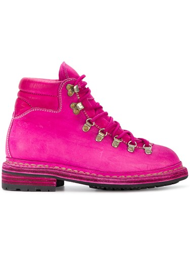 Guidi Distressed 'Cordovan' Trekking Boots Pink And Purple Qx4rBH