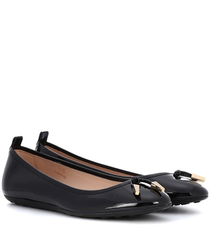 Tod's Patent Leather Ballerinas Black 9VgXZO