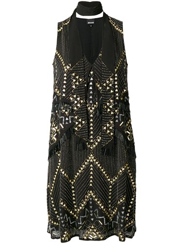 Just Cavalli Bead Embellished Dress Black nNJJNvbi