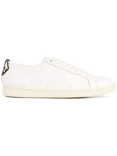Saint Laurent Court Classic Sl 01 Lips Sneakers White XloZH