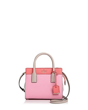 Kate Spade New York Candace Mini Leather Satchel Eraser Pink Multi Gold uNfwVIW