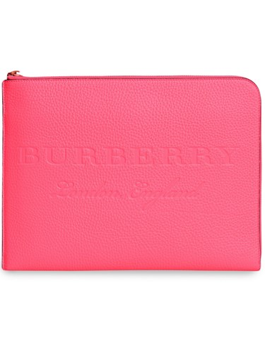 Burberry Embossed Leather Document Case Pink And Purple c6ttBA