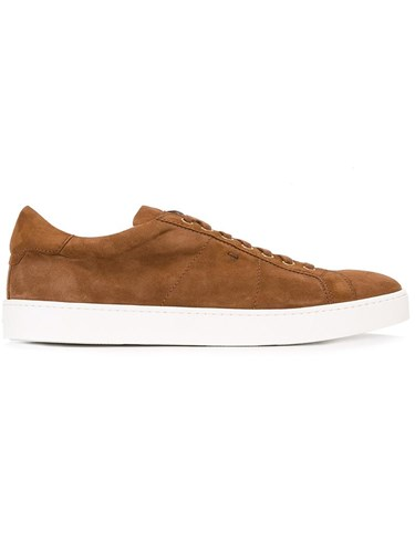 Santoni Lace Up Trainers Brown sHt4a9aT