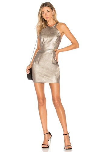 By The Way Way. Willa Faux Leather Mini Dress Gray buIrMvl77Q