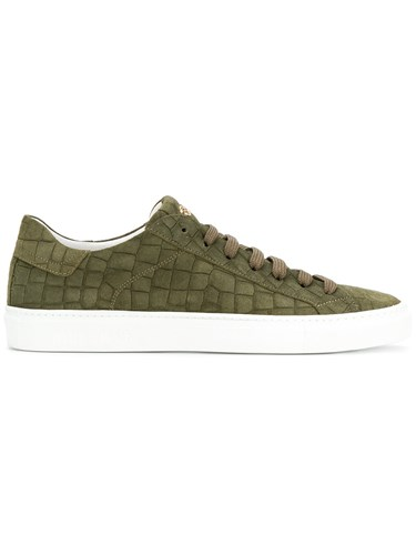 Hide & Jack Crocodile Embossed Essence Sneakers Green RmIGyh