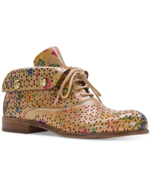 Patricia Nash Sabrina Perforated Ankle Booties Women's Shoes Prairie fFlPFp