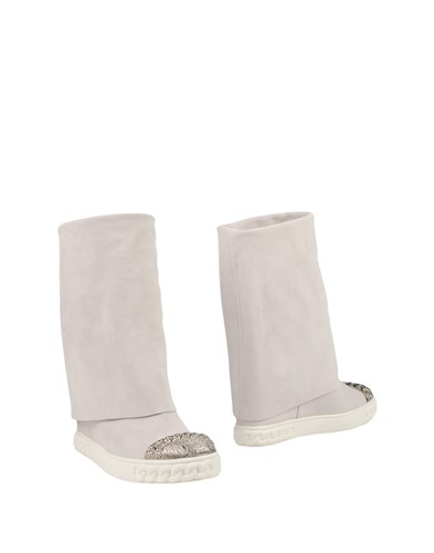 Casadei Ankle Boots Light Grey Su1iF6kW7