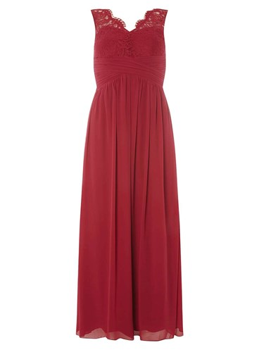 Dorothy Perkins Showcase Petite Berry Red Josie Maxi Dress PlCvLVSFwR