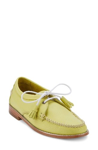 G.H. Bass Women's And Co. 'Winnie' Leather Oxford Lemon Lime Leather bQzhQ