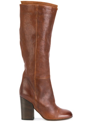 Pantanetti Knee Length Boots Calf Leather Leather Rubber Brown X52OH