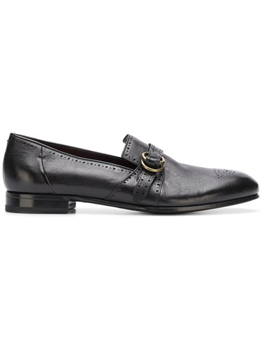 Lidfort Perforated Loafers Black 5Ye0m