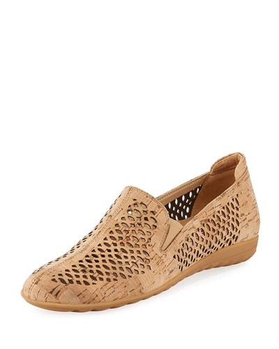 Sesto Meucci Byra Perforated Cork Comfort Loafer Natural MRPzpESQ4A