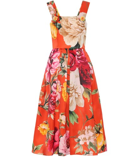 Dolce & Gabbana Embellished Silk Satin Dress Orange wl8JPzi