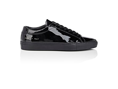 Common Projects Women's Achilles Patent Leather Sneakers Black H2Z68ZagX