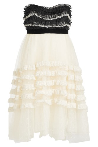 Philosophy di Lorenzo Serafini Bandeau Dress With Lace And Tulle White lPd3sm1