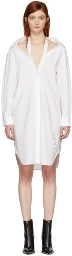 Alexander Wang T By White Tape Shirt Dress wgon5rI