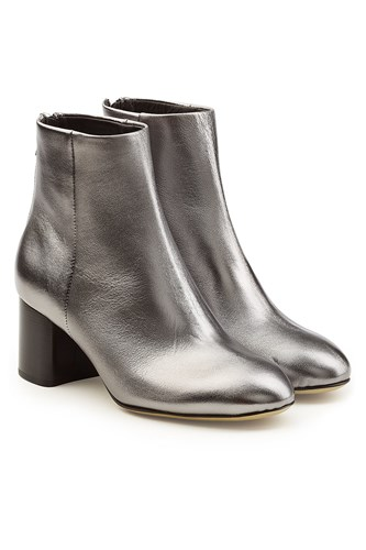 Ankle Leather Metallic Boots Bone Silver and Rag xnRWZT0Uw