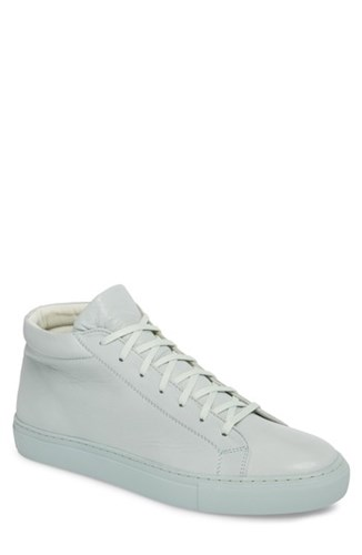SUPPLY LAB Lexington Mid Top Sneaker Mint Green Leather u0o6OWCFCg