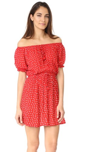 Faithfull The Brand Jardim Dress Rosario Print Red ds6QB6