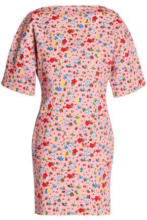 Mini Cotton Pink Moschino Love Print Baby Floral Dress wqW4t8nC6