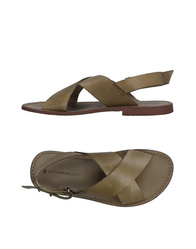 Attimonelli's Sandals Military Green y03EH