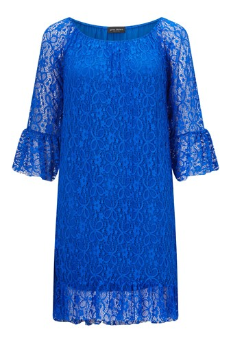 James Lakeland Lace Dress Blue pfY0P2