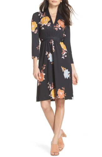 Connection Shikoku Floral Dress Multi Black French BHZTwqgw
