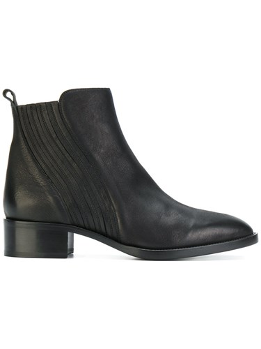 Boots Ankle Heeled Black Leather Sartore OxXfx