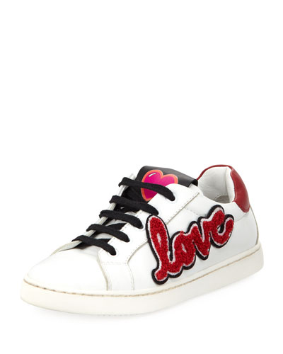 Dolce & Gabbana Heart Love Sneakers Youth White JaZx07Dc3